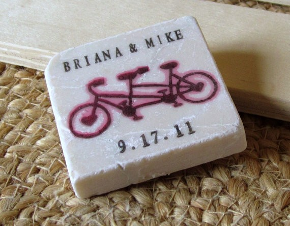 bicycle themed wedding save the dates