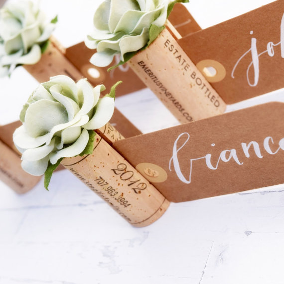 Cork Place Card Holders — Handmade-a-Day