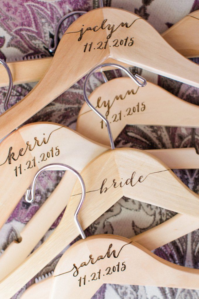 custom engraved dress hangers for bridesmaids