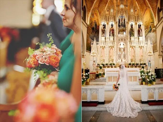 detroit_wedding_flowers_bride_sweetest_heart_of_mary_catholic_church Downtown Detroit Wedding - http://emmalinebride.com/real-weddings/a-beautiful-downtown-detroit-wedding-nick-jeannine/ | Michigan wedding photographer - The Camera Chick