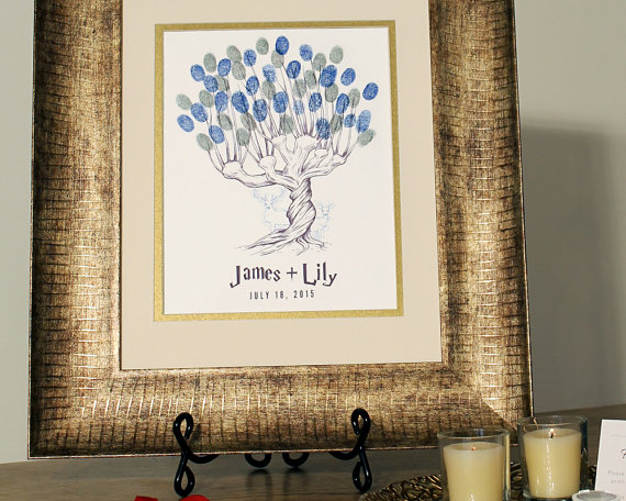 harry potter thumbprint tree guest book