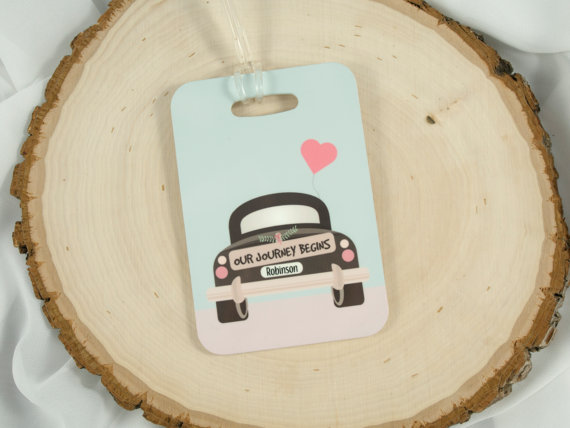 our journey begins honeymoon luggage tags