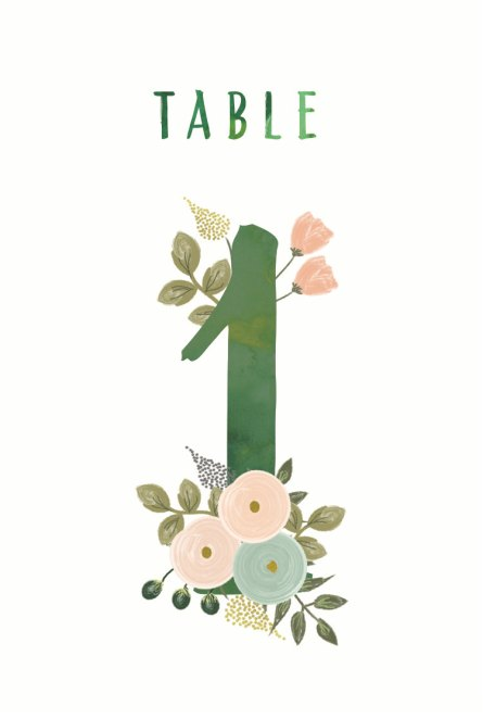printable wedding table numbers for weddings | http://emmalinebride.com/wedding/printable-table-numbers-floral/