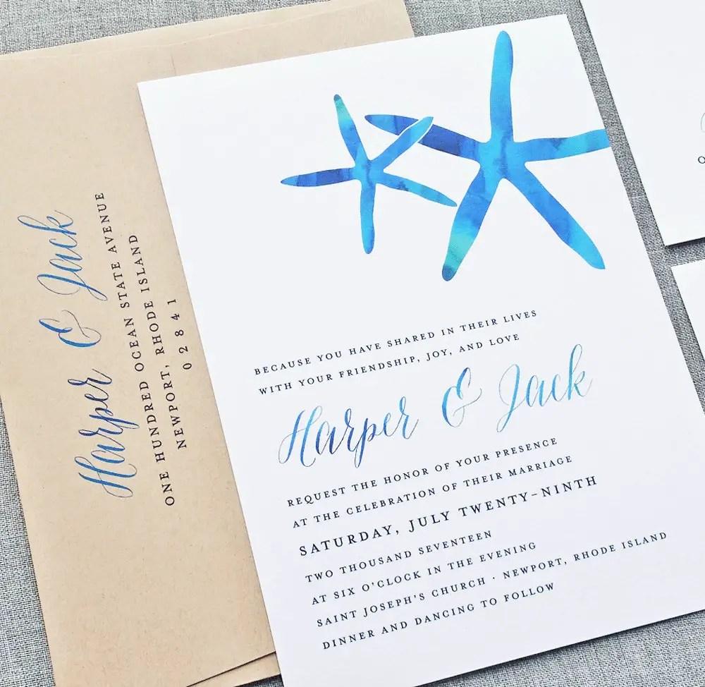 Beach Wedding Invitations / Ideas?