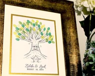 zelda thumbprint tree guest book