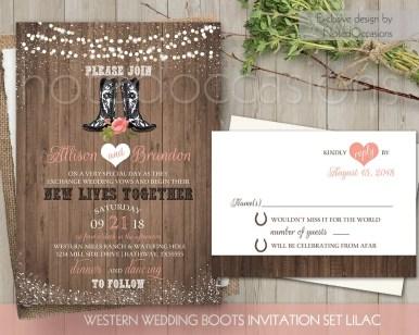 cowbow boots free printable wedding invitations