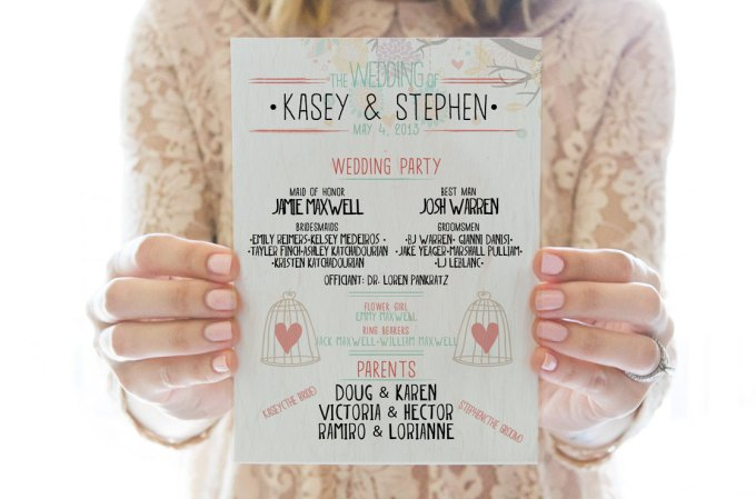 cute printable wedding program by redlettervows
