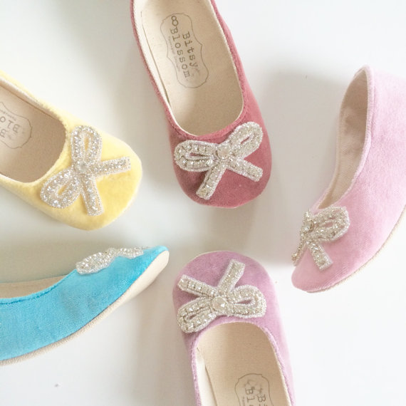 flower girl shoes bow