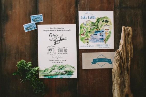 beautiful lake tahoe wedding invitations