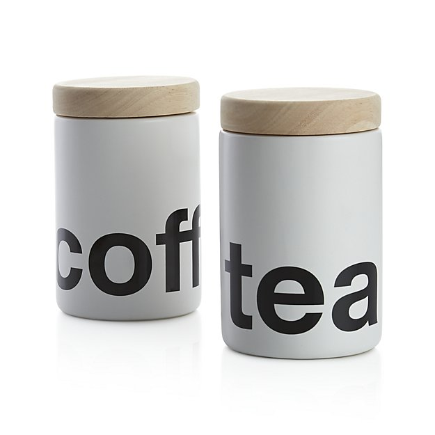 coffee and tea canister | 9 Things I Wish Had Registered For | http://emmalinebride.com/planning/9-things-wish-had-registered-for/