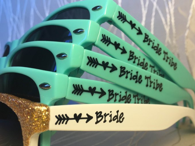 cute bride tribe sunglasses for bachelorette party