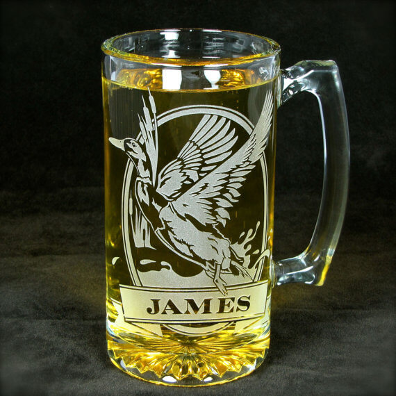 duck personalized beer stein