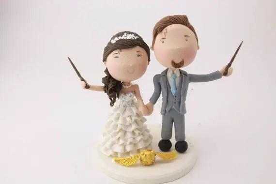 figurine wedding cake toppers harry potter wedding