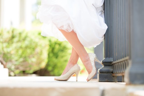gold wedding heels