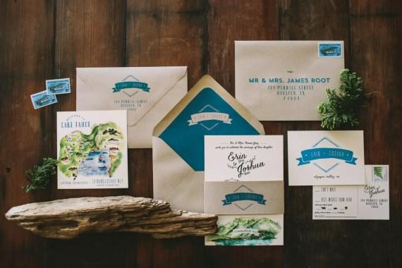 Lake Themed Wedding Invitations: 15 Beautiful Lake Tahoe Wedding Ideas