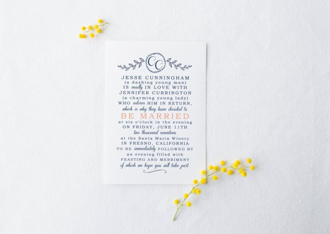 minimalist wedding invitations | by Splash of Silver | http://emmalinebride.com/modern/minimalist-wedding-invitations/