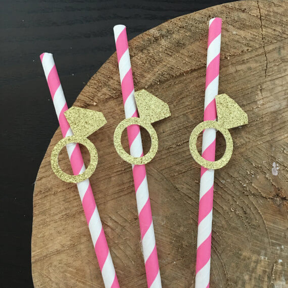 ring straw toppers by RockyTopPartyShop