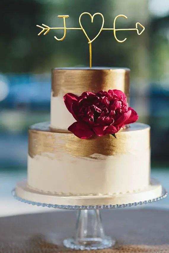 rustic wire cake topper