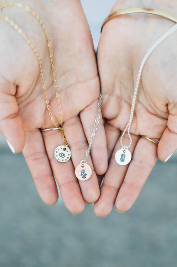 yoga charm necklaces