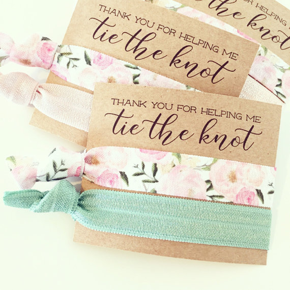 bridesmaid hair ties by lovemiaco