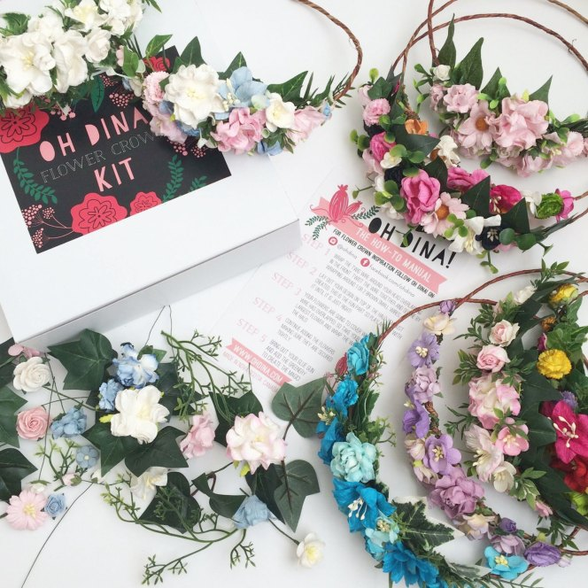 flower crown kit by ohdinaflowercrowns