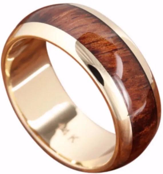 natural wood inlay wedding ring | Wood Rings Groom Picks | Northern Royal | http://emmalinebride.com/groom/wood-rings-groom/