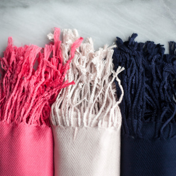 pashminas via 26 Things Guests Love at Weddings from A to Z | http://emmalinebride.com/planning/things-guests-love-at-weddings/