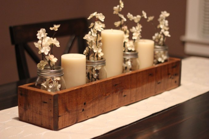 wood centerpieces for wedding