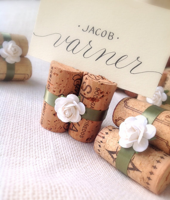 sage place card holders by karasvineyardwedding | via Sage Wedding Ideas from http://emmalinebride.com/color/sage-green-wedding-ideas/