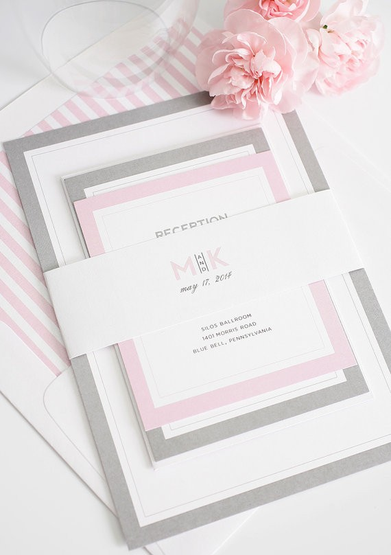wedding invitations by shineinvitations via 26 Things Guests Love at Weddings from A to Z   http://emmalinebride.com/planning/things-guests-love-at-weddings/ 