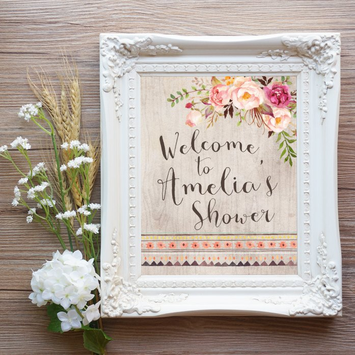 welcome sign by INVITEDbyAudriana