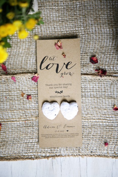 wildflower seed favors by littlemellow