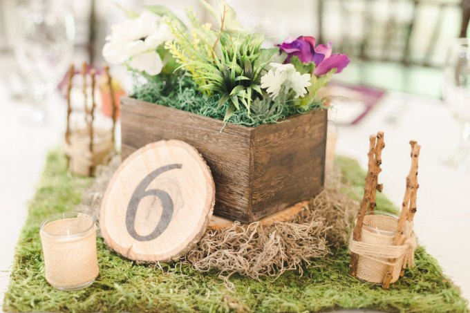 wood box rustic centerpieces by new creations - wood centerpieces for wedding
