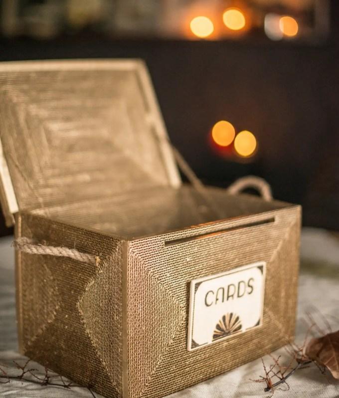 card box with lock