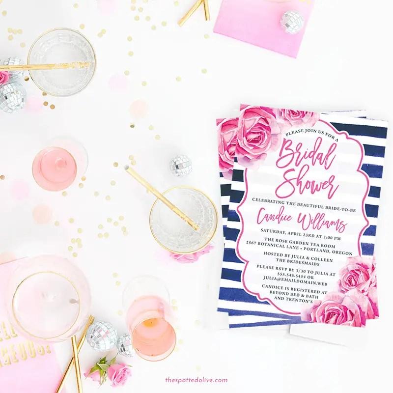 Free Bridal Shower Invitations Giveaway Emmaline Bride Wedding Blog