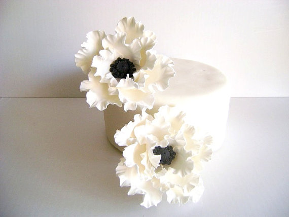 Clay Flower Cake Toppers for Weddings