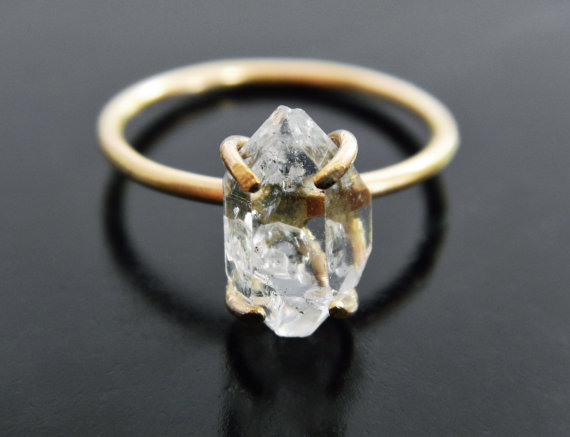 herkimer-diamond-engagement-ring-by-gaiascandy