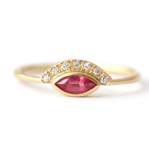 hot-pink-and-diamond-engagement-ring-and-band-by-artemer