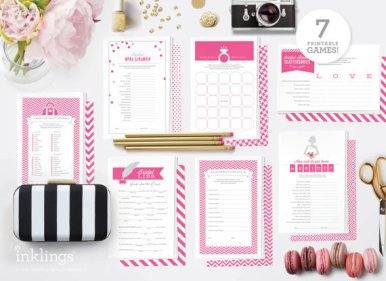 hot-pink-bridal-shower-games