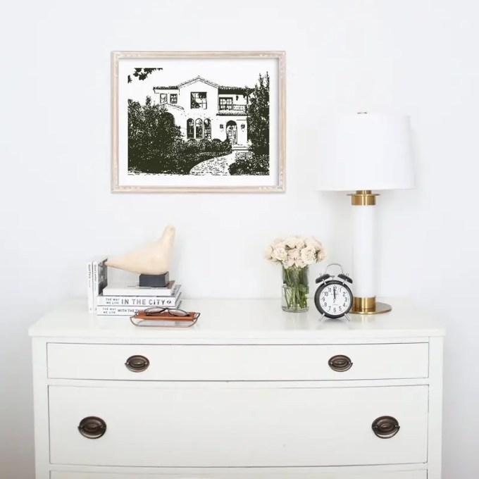 house-art-on-wall