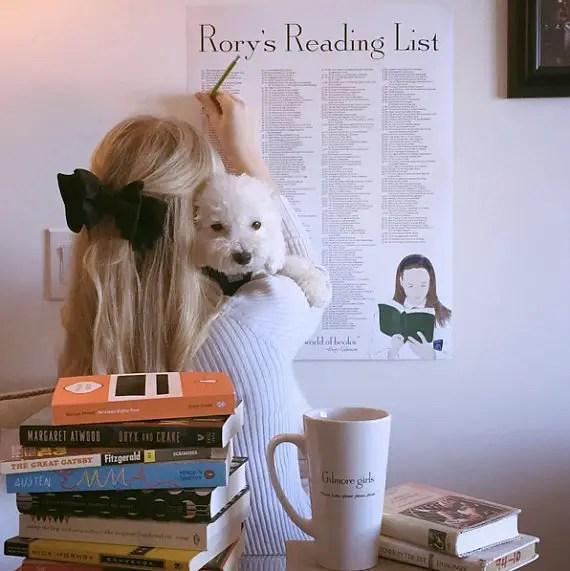 Rorys Reading List via 50+ Best Gilmore Girls Gift Ideas http://emmalinebride.com/gifts/50-best-gilmore-girls-gift-ideas/