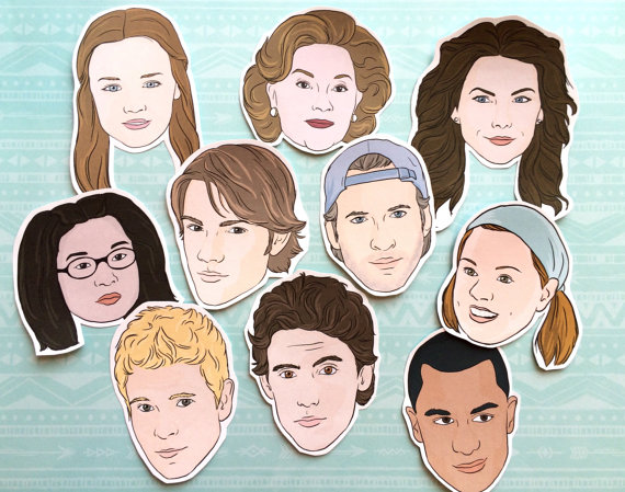 Stars Hollow Gilmore Girls magnets via 50+ Best Gilmore Girls Gift Ideas http://emmalinebride.com/gifts/50-best-gilmore-girls-gift-ideas/