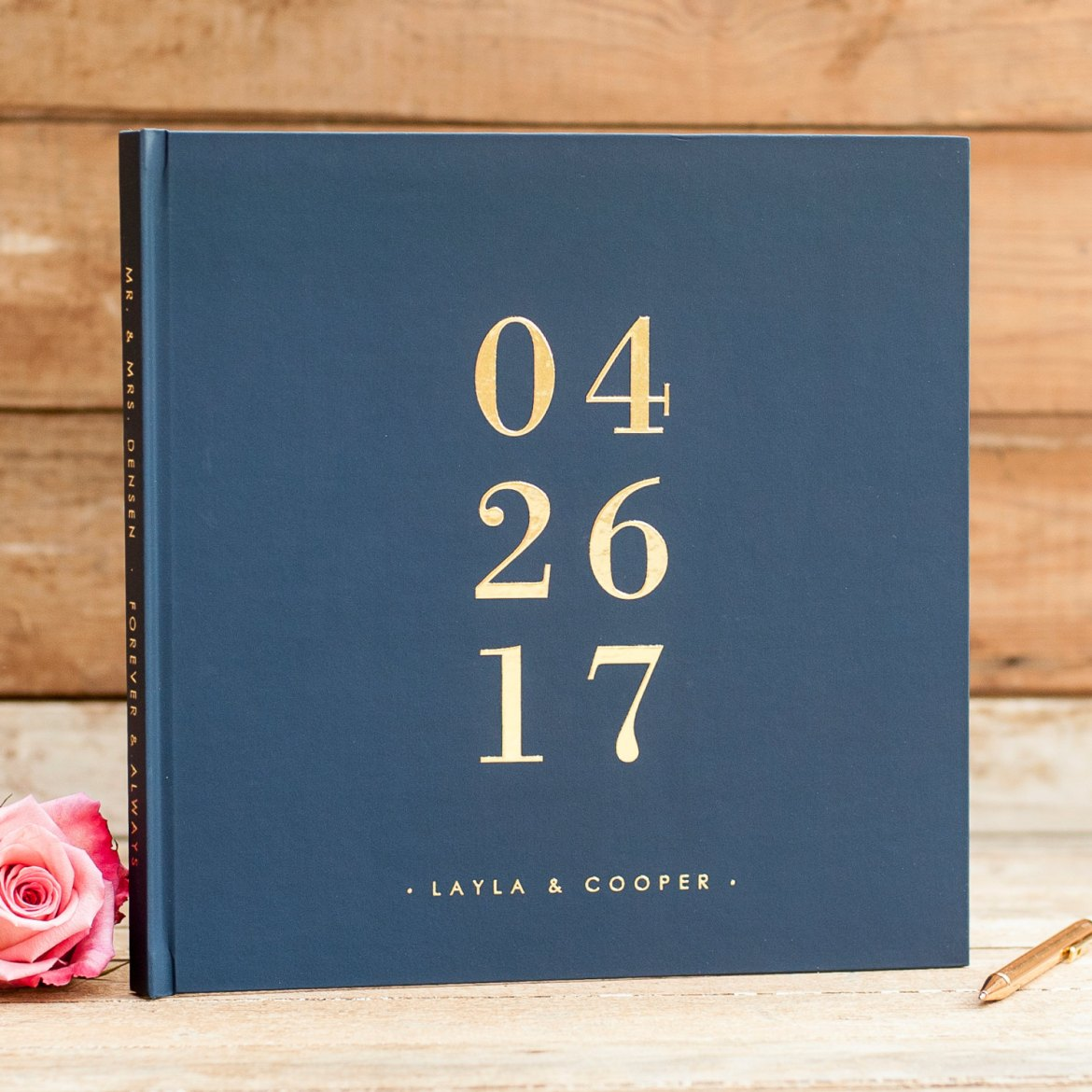 Gold Foil Guest Books - made from real foil! By Starboard Press. | http://emmalinebride.com/wedding/gold-foil-guest-books/