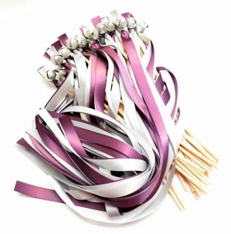 purple-and-light-grey-ribbon-wands