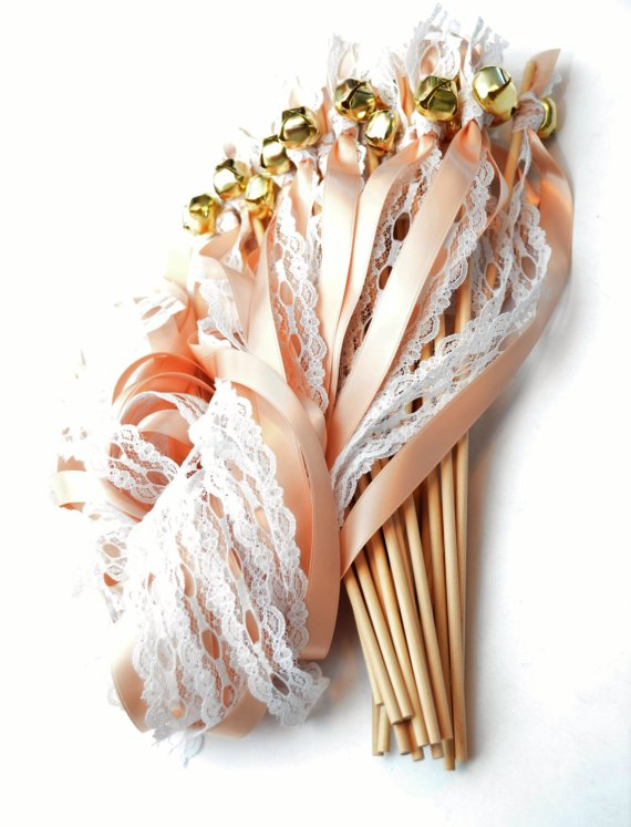 Ribbon Wand Exit for Weddings | Ribbon wands by Divinity Braid