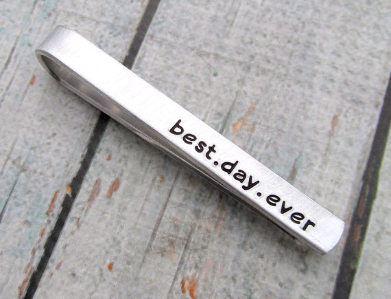 best day ever tie clip by reginalynndesign