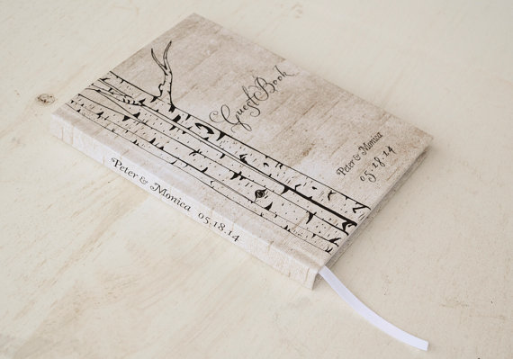 Birch Wedding Guest Book