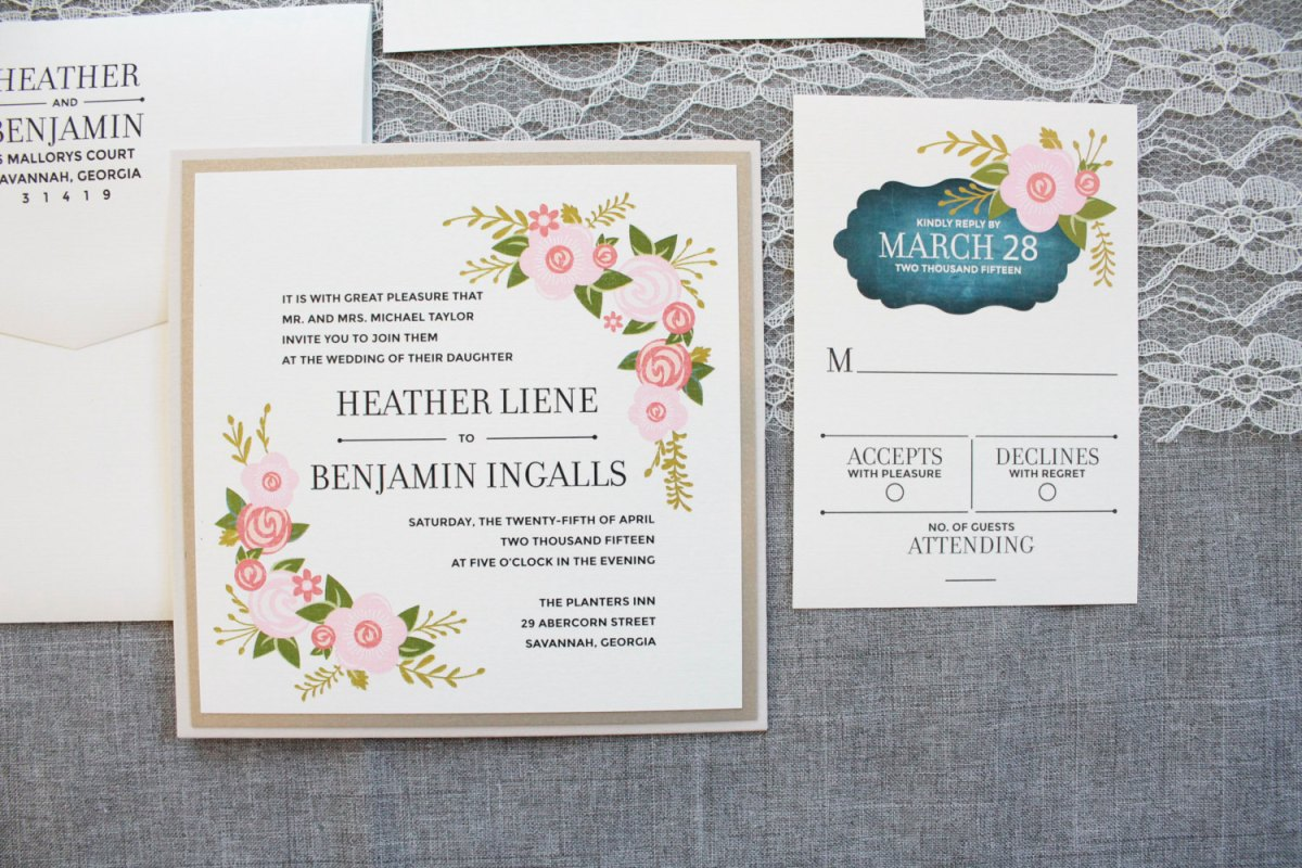 Square Wedding Invitations: What Size Postage