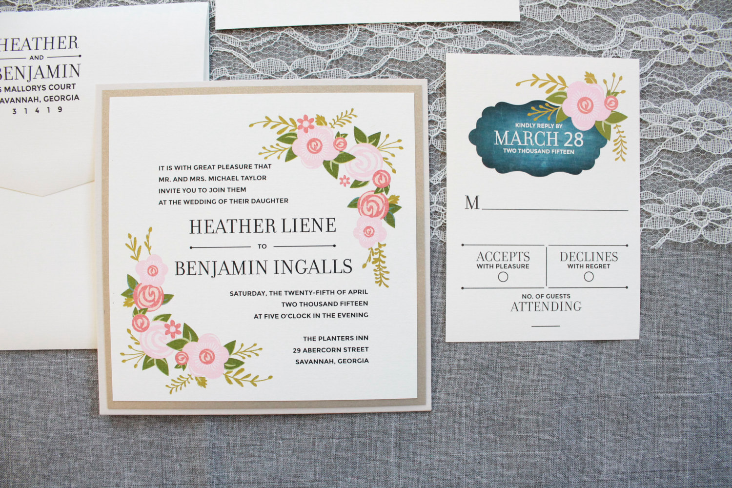 Square Wedding Invitations | By Invited By Lamaworks, Http://etsy.me