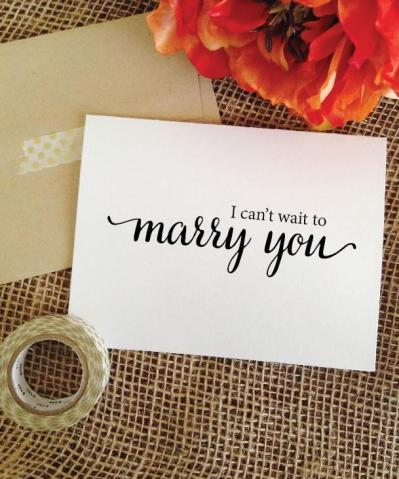 i cant wait to marry you card